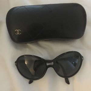 Authentic Chanel sunglasses with black case